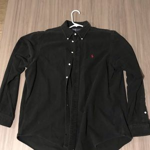 Ralph Lauren Black Button Down XL